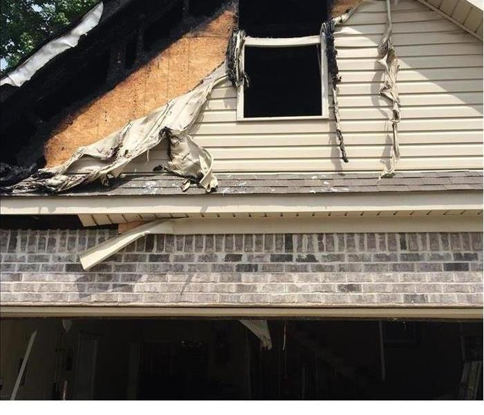 House Fire caused by Lightening
