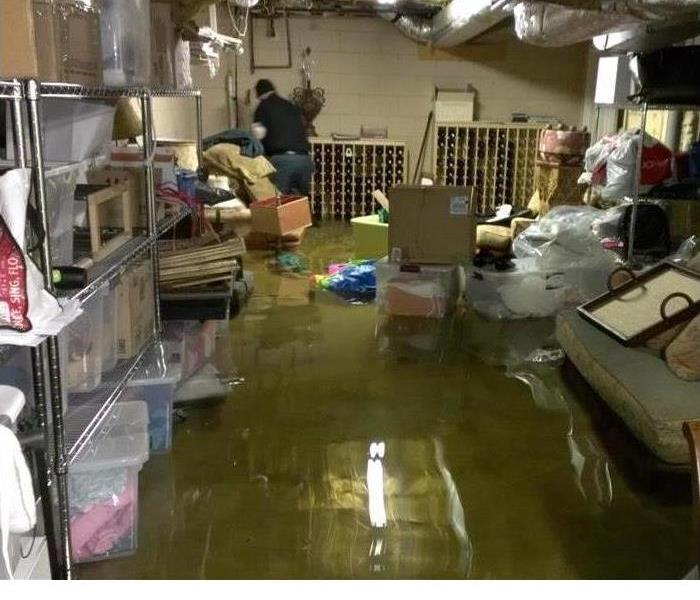 Water Damage Flooded Basement Cleanup