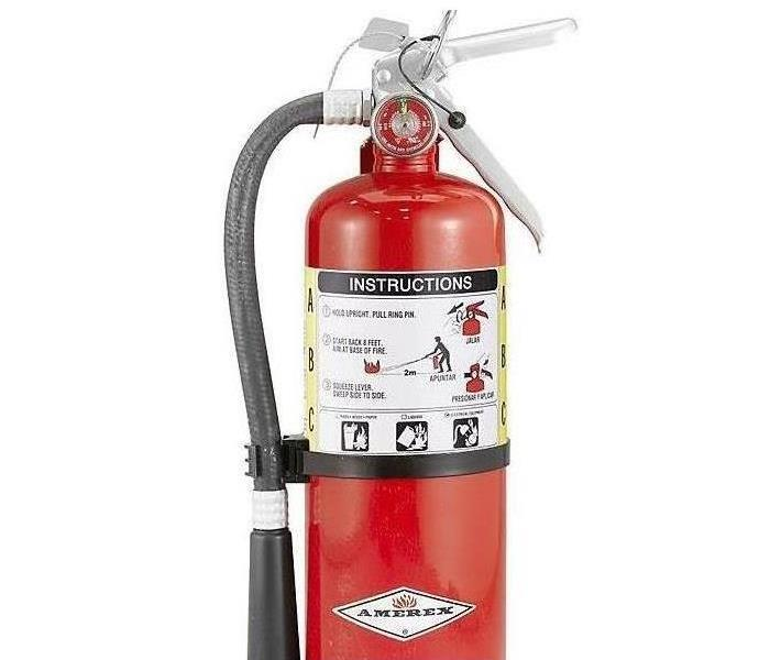 This is a photo of a red fire extinguisher.